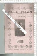 XB /  Vintage  // PROGRAMME Théâtre SELECT @@ GALIPAUX // LE COMTE DE LUXEMBOURG @@ - Programas