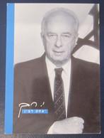 ITZCHACK RABIN PRIME MINISTER POSTCARD ISRAEL PC ANSICHTKARTE SOUVENIR POST CARD PHOTO STAMP CACHET - Israel