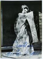 """Foto Autografo MIETTA SIGHELE, Soprano In """"Madama Butterfly"""" - Autografi"""