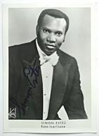 Foto Autografo SIMON ESTES, Bass-bariton - Autografi