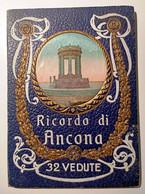 ANNI '30 ANCONA RICORDO DI ANCONA CARTELLINA (cm 11,8 X 16,6) CON 32 VEDUTE BIANCO E NERO DI ANCONA Copertina Con Illus - Ancona