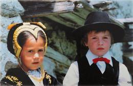 FRANCE Petits Savoyards LANDRY Les CORDETTES Enfants Paysage Folklore Costume Traditionnel Klederdracht Traditional - Scènes & Paysages