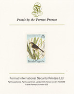 British Virgin Islands 1985 John Audubon Birds 5c Seaside Sparrow Imperf Proof, As SG 588 - British Virgin Islands