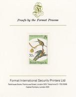 British Virgin Islands 1985 John Audubon Birds 30c Passenger Pigeon Imperf Proof, As SG 589 - British Virgin Islands