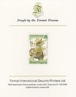 British Virgin Islands 1985 John Audubon Birds $1 American Kestrel Imperf Proof, As SG 591 - British Virgin Islands