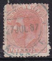 Spagna, 1882 - 15c King Alfonso XII - Nr.252 Usato° - Usados