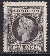Spagna, 1898 - 5c King Alfonso XIII - Nr.MR27 Usato° - Usados