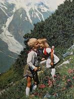 Panorama Montagne ENFANTS Tyrol Folklore Costume Traditionnel Klederdracht Traditional - Scènes & Paysages