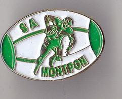 PIN'S THEME RUGBY  CLUB DE MONTPON  EN DORDOGNE - Rugby