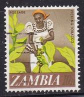 Zambia, 1968 - 10n Woman Tobacco Picker Nr.44 Usato° - Zambie (1965-...)