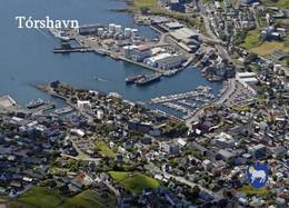 Faroe Islands Torshavn Harbour Aerial View Føroyar New Postcard Färöer AK - Faeröer