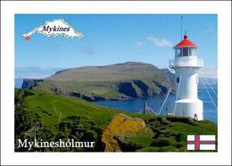 Faroe Islands Mykinesholmur Lighthouse New Postcard Färöer Leuchturm AK - Isole Faroer