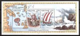 Faroe Islands 2002 The Vikings As Atlantic Sailors   Mi  Bloc 12 MNH(**) - Faeroër