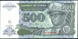 ♛ ZAIRE - 500 Nouveaux Zaires 15.02.1994 {Note Printed By G&D} UNC P.64 - Zaire