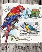 CENTRAFRICAINE 2016 SHEET PARROTS PERROQUETS LOROS BIRDS AVES PAPPAGALLI PAPAGEIEN PAPAGAIOS PASSAROS OISEAUX Ca16412b - Centrafricaine (République)