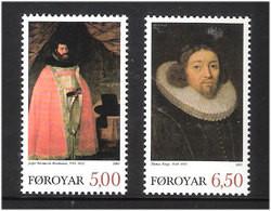 Faroe Islands  2003 Important Faroese Theologians, Jesper Rasmussen Brochmand., Thomas Kingo  Mi  471-472 MNH(**) - Faeroër