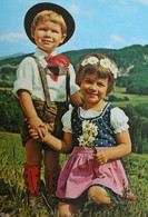 Panorama Montagne ENFANTS Folklore Costume Traditionnel Klederdracht Traditional - Scènes & Paysages