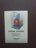 Carte Parfum Parfumkaart Heure Intime Vigny Paris - Modern (vanaf 1961)