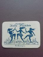 Carte Parfum Parfumkaart Folle Flambée G. Coryn - Modern (vanaf 1961)