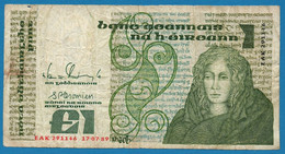 "IRELAND    1 Pound / Punt 17.07.1989 # EAK 291146  P# 70  Queen Maeve "" Medb "" - Irland"