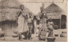 2044-014  FORTIER  Dans Un Village  Col Génér Fortier Dakar  N°1503  Vente Retirée Le 14-11 - Sénégal