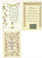 Lot 3 Cpm - Prénom BERTHE - JANINE - Lettre Alphabet Décorée - Illustration Fleurs - - Prénoms