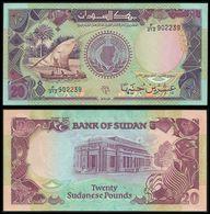 ♛ SUDAN - 20 Pounds 1991 UNC P.47 - Sudan