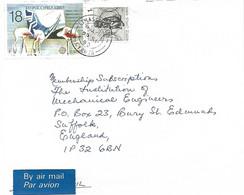 Cyprus 1990 Limassol BO 8 Flamingo EUROPA CEPT Cover - Flamencos