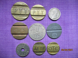 6 Telephone Tokens (Italie, Spain, France, Roumania, Israel) - Jetons & Médailles