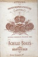 ACHILLE BOUIS EDITEUR DE CARTES POSTALES A MONTAUBAN 82 AU XIX ET XX SIECLE. - Cartes De Visite