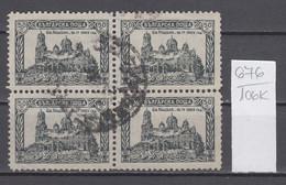 106K676 / Bulgaria 1926 Block X 4 Michel Nr. 195 Used ( O ) Bombing Of The Sveta Nedelya Cathedral, Sofia , Bulgarie - 1909-45 Kingdom
