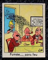 Image Chocolat IBLED CHOCORÊVE Illustrateur ROL - Série 65 Fumée... Sans Feu N° 3 Pompier Découvre Les Fumeurs De Pipes - Ibled