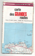 Carte SHELL Des Grandes Routes Et Routes Parallèles Service Tourisme Shell 1965 - Cartes Routières