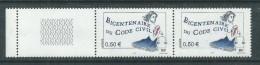 France N° 3644b+c  XX Bicent. Du Code Civil Variété 2 Bdes De Phopho Tenant à 1 Bde à Cheval à Gau, Les 2 Vals Ss Ch, TB - Abarten: 2000-09 Ungebraucht