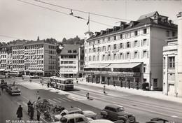 SWITZERLAND - St. Gallen 1966 - Hechtplatz - Trolleybus - Automotive - SG St. Gallen