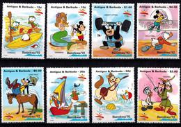 MWD-BK1-026-3 MINT PF/MNH ¤ ANTIGUA & BARBUDA 1992 8w In Serie ¤ GAMES OF THE XXV OLYMPIAD. BARCELONA 1992 - Disney