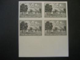 Böhmen Und Mähren 1943- Zulassungsmarke 4-er Block Theresienstadt Probedruck Mi.Nr. 1 - Ungebraucht