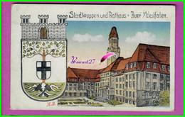 CP ALLEMAGNE - GERMANY - STADTWAPPEN UND RATHAUS BUER / WESTFALEN - Geilenkirchen