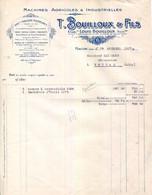 71.MACON.MACHINES AGRICOLES & INDUSTRIELLES.T.BOUILLOUX & FILS USINE & MAGASIN RUE POITEVIN & RUE RAMBUTEAU. - Francia