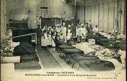Première Guerre Mondiale Intérieur D'un Hôpital Préfabriqué Anglais à Boulogne Sur Mer - Boulogne Sur Mer