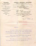 03.VICHY.PIANOS,MUSIQUE,LUTHERIE.C.DEMONET 9,11,13,15 RUE MONTARET. - Francia