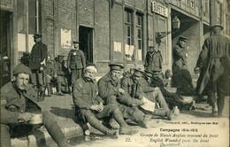 Première Guerre Mondiale Groupe De Blessés Anglais Revenant Du Front Carte Stevenard Boulogne Sur Mer - Boulogne Sur Mer