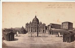 Italie - Rome- Photo Fin 1800- Basilique Saint Pierre Et Colonade Du Bernin - Non Classificati