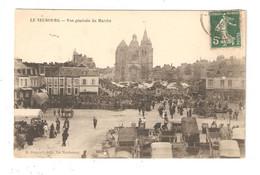 CPA 27 LE NEUBOURG Vue Générale Du Marché Animation Immeubles Eglise 1912 - Le Neubourg