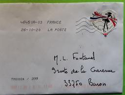 Lettre Verte Avec Timbre MODE FASHION Coeur De GUERLAIN La  Petite Robe Noire , 2020, TB - Textile