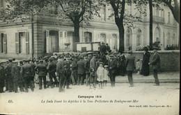 Première Guerre Mondiale La Foule Lisant Les Dépêches à La Sous-préfecture De Boulogne-sur-Mer Carte Stevenard - Boulogne Sur Mer