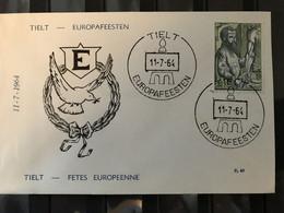 BIJZONDERE DATUMSTEMPEL 1281 EUROPAFEESTEN TIELT 11/07/1964 - 1961-70