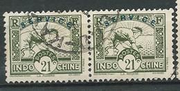 Indochine - Service - Yvert N° 10 Paire Oblitérée  -  Lr 31302 - Sonstige