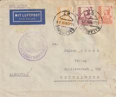 Espagne Lettre Censurée Salamanca Pour L'Allemagne 1938 - 1931-50 Cartas