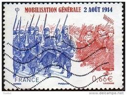France Oblitération Moderne N° 4889 Mobilisation Générale - Francia